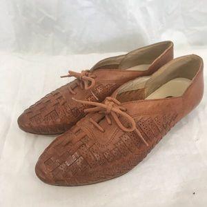 Vintage Bandolino Woven Leather Oxford Flats 5